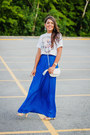Blue-maxi-zara-skirt