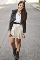 black leather Forever 21 jacket - black troopa Steve Madden boots