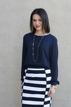 H&M skirt - Forever 21 blouse - Loft heels
