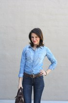 Top Shop shirt - Old Navy jeans - kate spade purse - sam edelman loafers