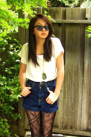 navy American Apparel shorts
