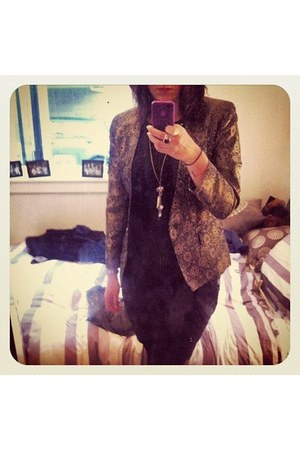 applique Vinntage Keith Matheson jacket - black Glassons top
