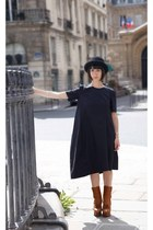 acne boots - COS dress - vintage hat