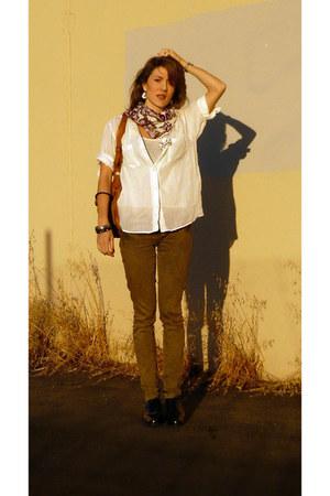 Zara blouse - Mango pants - Zara purse - H&M scarf - Circa Joan shoes