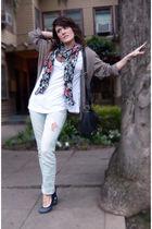 Zara cardigan - Zara shirt - H&M scarf - Pimkie jeans - Lancaster purse - Foreve