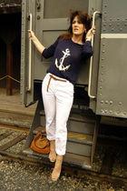 Kookai cardigan - Zara pants - pedro miralles shoes - Zara purse - H&M belt