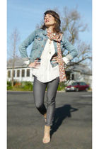 Jeans Jacket  H&M jacket - Blouse  Zara blouse - Pants  H&M pants - Scarf  Circu
