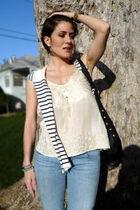 SANDRO top - Zara sweater - Zara jeans - Zara