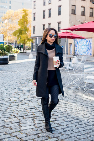 Michael Kors boots - DKNY coat - Articles of Society jeans - W by Worth sweater