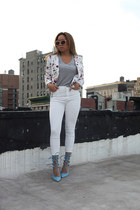 white haute hippie jacket - white Urban Outfitters jeans