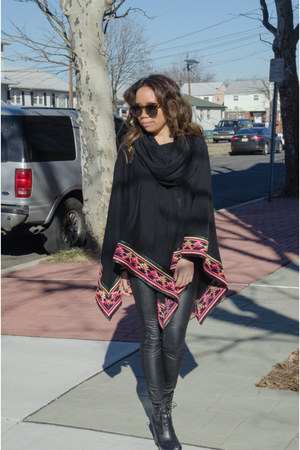 black DKNY boots - black bcbg max azria pants - black 6 Shore Road top