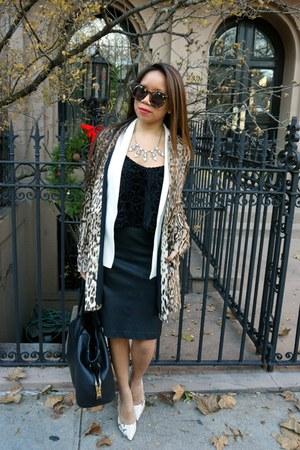 haute hippie jacket - piperlime skirt - Steve Madden heels - Cynthia Vincent top
