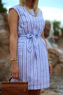 Hot-pink-studded-torrid-heels-sky-blue-target-dress-brown-willis-coach-bag