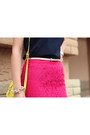 Hot-pink-target-skirt-yellow-old-navy-bag-navy-gap-top