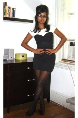 American Apparel dress - t-shirt - tights - H&M shoes