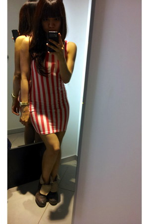 candy stripes H&M dress