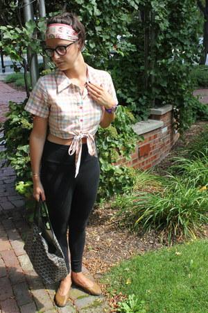 plaid Rachel Antonoff blouse - high waisted American Apparel leggings