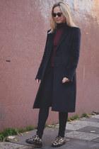 mohair maison martin margiela coat - leopard Dr Martens shoes