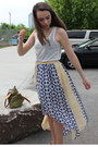 White-cotton-h-m-top-blue-high-low-anthropologie-skirt