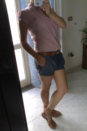 Stradivarius blouse - phard shorts - Bershka belt - no brand shoes