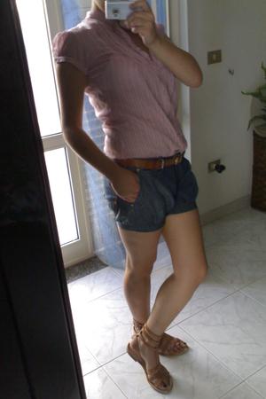 Stradivarius blouse - phard shorts - Bershka belt - no brand shoes