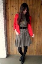 vintage dress - vintage blazer