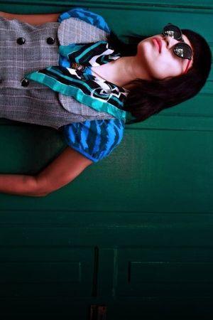 Luis Parra scarf - AGATA RUIZ DE LA PRADA shirt - Luis Parra jacket - Prada neck