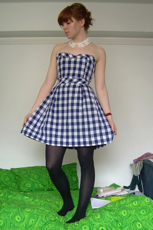 found at my house accessories - Ad Hoc dress - Topshop tights - UO shoes