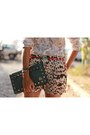 Olive-green-studded-bag-aredda-bag-brown-animal-print-aremo-shorts