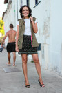 Olive-green-army-forever-21-vest-white-zara-t-shirt-black-beaded-zara-skirt