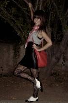 Cruz pradera shoes - purse - vintage skirt - Mango shirt - scarf - tights