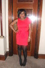 Red-river-island-dress-black-new-look-shoes