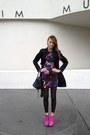 Hot-pink-senso-boots-blue-versace-for-h-m-dress
