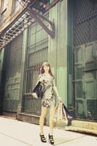 Diane Von Furstenberg dress - YSL heels