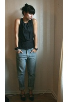 acne top - Filippa K jeans - Scorett shoes