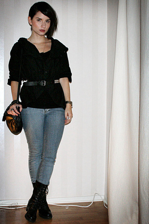 2707 shirt - Crocker jeans - vagabond shoes - vintage purse - H&amp;M belt