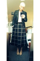 black midi grid skirt asos skirt