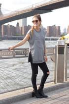 black acne boots - black asoscom jeans