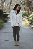 aviator jacket Sheinside jacket - PacSun boots - Zara sweater - hollister pants