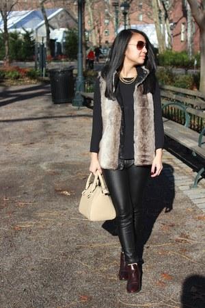 Forever 21 pants - Zara boots - Forever 21 vest