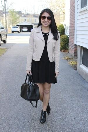 Zara boots - Forever 21 dress - H&M jacket