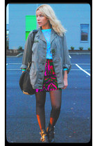 military jacket vintage jacket - cut out letaher Choies boots