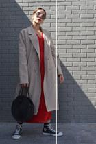 red Zara dress