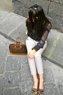 Dark-brown-louis-vuitton-bag-beige-zara-pants-burnt-orange-kate-spade-loafer