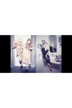 beige LF dress - brown LF accessories - black LF blouse