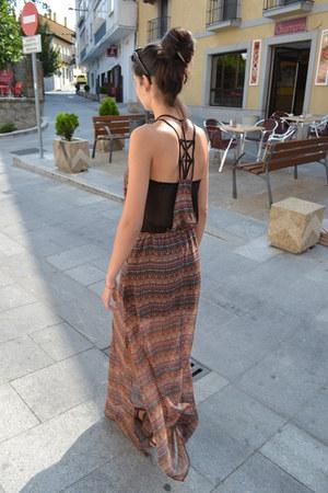 Bershka dress - brown sandals