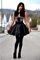 Vero Moda skirt - Topshop boots - Fornarina top