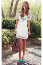 ivory Bershka dress