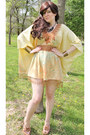 Cream-vintage-dress-tan-vintage-cadies-candies-sandals