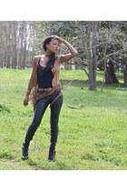 black boots - black Zara pants - black pull&bear bodysuit